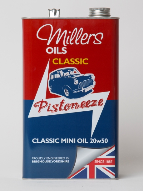 Millers oils benelux classic mini oil 20w50 millers oils for Classic motor oil 20w50