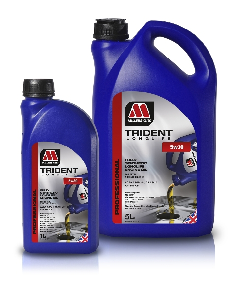 Moderne Millers Oils Benelux Trident Longlife 5w30 vol synthetische olie IU-75