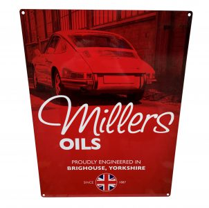 Millers Oils Emaille bord